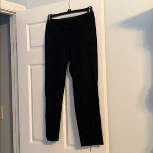 Black straight petite ankle pants
